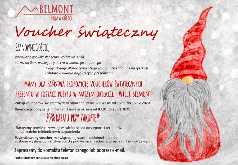 Willa Belmont - voucher świąteczny